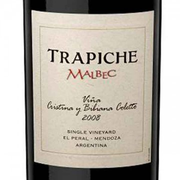 Bodegas Trapiche Malbec Single Vineyard 2008